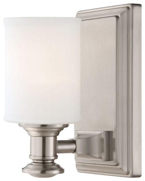 Minka Lavery Harbour Point 1 Light Bath in Brushed Nickel Finish