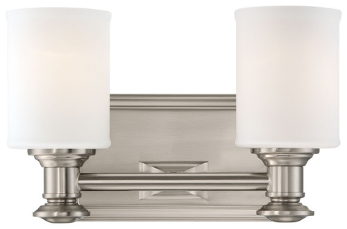 Minka Lavery Harbour Point 2 Light Bath in Brushed Nickel Finish