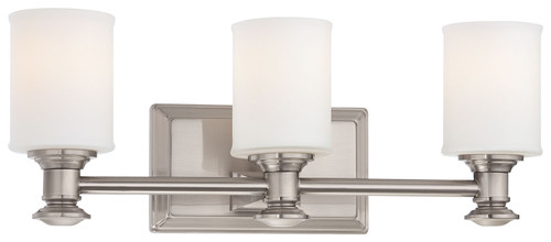 Minka Lavery Harbour Point 3 Light Bath in Brushed Nickel Finish