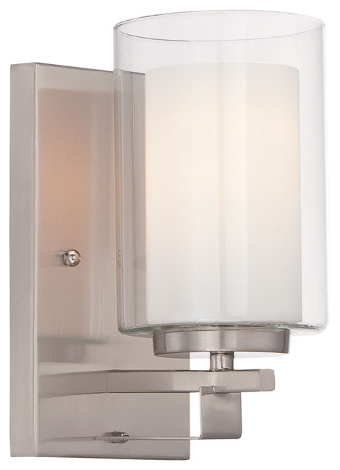 Minka Lavery Parsons Studio 1 Light Bath in Brushed Nickel Finish