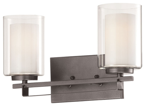 Minka Lavery Parsons Studio 2 Light Bath in Smoked Iron Finish