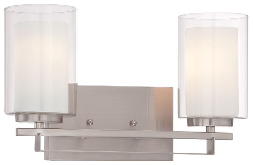 Minka Lavery Parsons Studio 2 Light Bath in Brushed Nickel Finish
