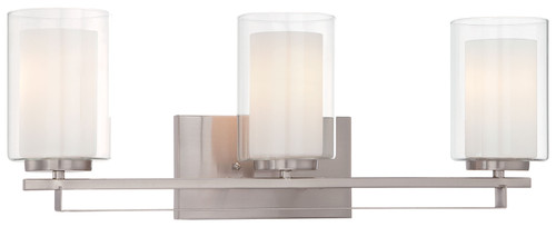 Minka Lavery Parsons Studio 3 Light Bath in Brushed Nickel Finish
