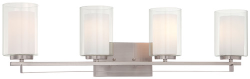 Minka Lavery Parsons Studio 4 Light Bath in Brushed Nickel Finish