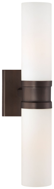 Minka Lavery 2 Light Wall Sconce in Copper Bronze Patina Finish