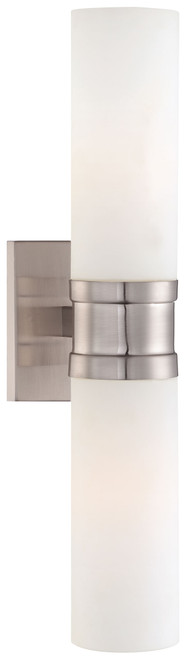 Minka Lavery 2 Light Wall Sconce in Brushed Nickel Finish