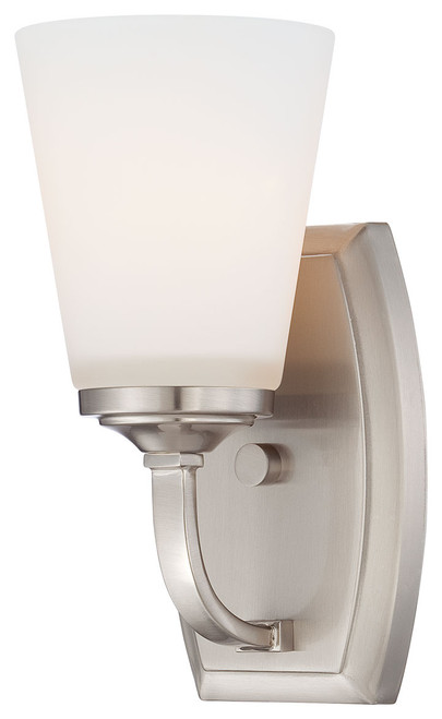 Minka Lavery Overland Park 1 Light Bath in Brushed Nickel Finish
