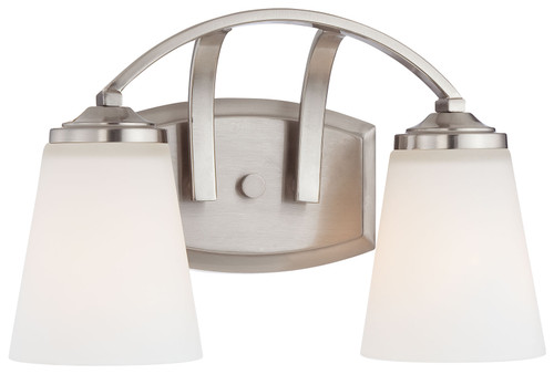 Minka Lavery Overland Park 2 Light Bath in Brushed Nickel Finish