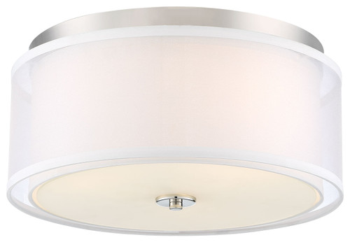 Minka Lavery Studio 5 3 Light Flush Mount in Polished Nickel Finish