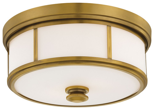 Minka Lavery Harbour Point 2 Light Flush Mount in Liberty Gold Finish