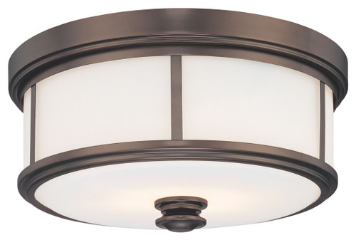Minka Lavery Harbour Point 2 Light Flush Mount in Harvard Court Bronze (Plated) Finish