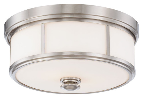 Minka Lavery Harbour Point 2 Light Flush Mount in Brushed Nickel Finish