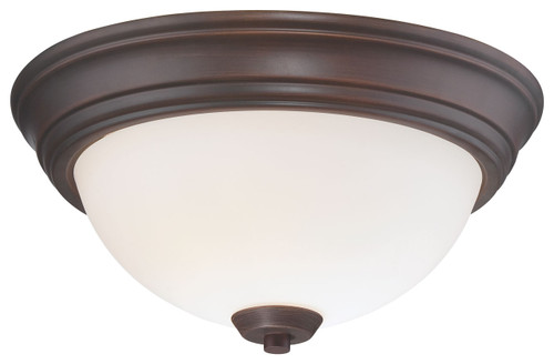 Minka Lavery Overland Park 2 Light Flush Mount in Vintage Bronze Finish