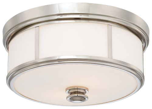 Minka Lavery 3 Light Flush Mount in Polished Nickel Finish