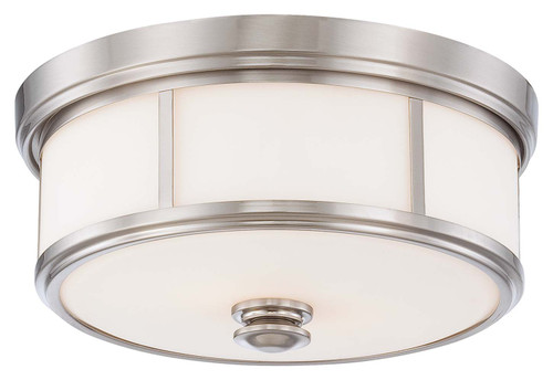 Minka Lavery 3 Light Flush Mount in Brushed Nickel Finish