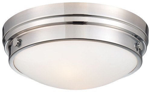 Minka Lavery 2 Light Flush Mount in Chrome Finish