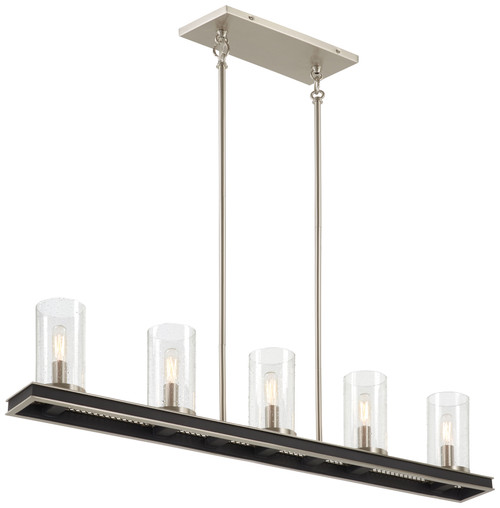 Minka Lavery 5 Light Island in Coal With Brushed Nickel Finish