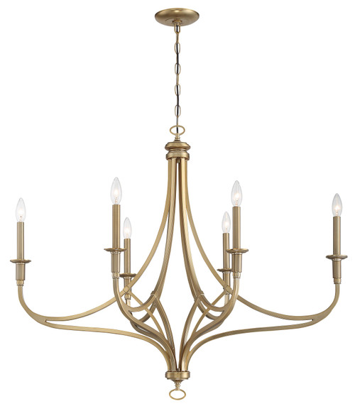 Minka Lavery Covent Park 6 Light Chandelier in Brushed Honey Gold Finish
