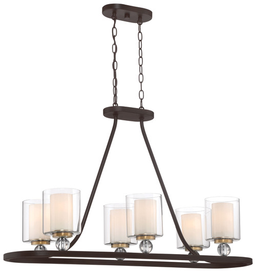 Minka Lavery Studio 5 5 Island Light in PaInterior Bronze With Natural Brush Finish