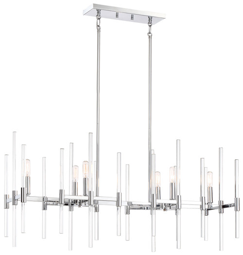 Minka Lavery Pillar 6 Light Island in Chrome Finish