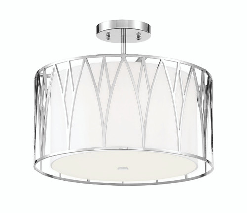 Minka Lavery Regal Terrace Led Semi Flush in Polished Nickel Finish