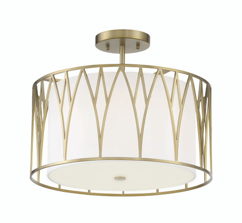 Minka Lavery Led Semi Flush in Soft Brass Finish