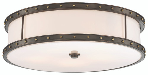 Minka Lavery 5 Light Led Flush Mount in Harvard Court Bronze With Liberty Finish