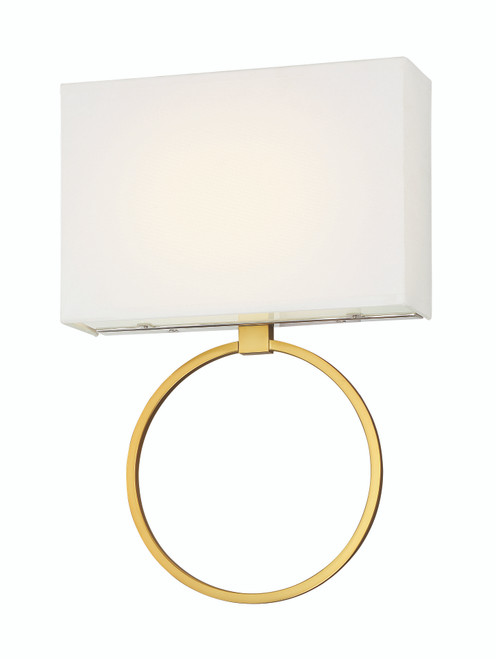 Minka Lavery Chassell 1 Light Led Wall Sconce in PaInterior Honey Gold With Polished Nickel Finish