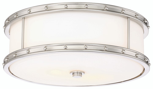 Minka Lavery 3 Light Led Flush Mount in Brushed Nickel Finish