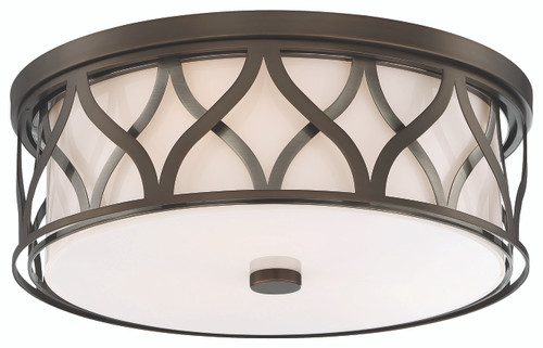 Minka Lavery 3 Light Led Flush Mount in Harvard Court Bronze Finish