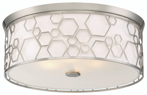 Minka Lavery 4 Light Led Flush Mount in Brushed Nickel Finish