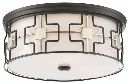 Minka Lavery Led Flush Mount in Dark Gray With Polished Nickel Finish