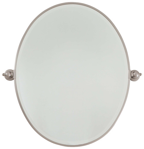 Minka Lavery Pivot Mirrors Oval Beveled in Brushed Nickel Finish
