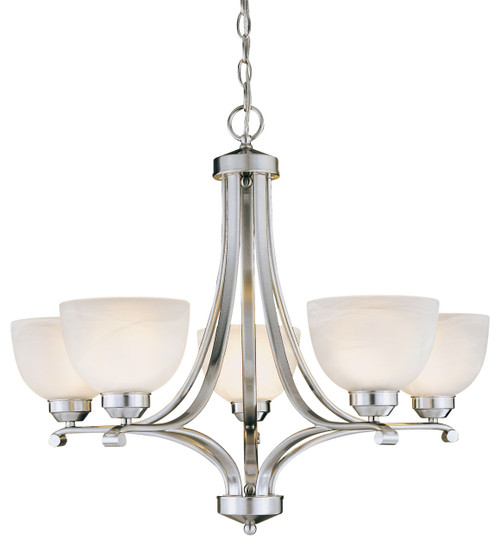 Minka Lavery Paradox 5 Light Chandelier in Brushed Nickel Finish
