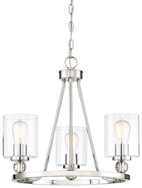 Minka Lavery Studio 5 3 Light Mini Chandelier in Platinum Finish