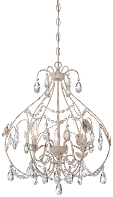 Minka Lavery 3 Light Mini Chandelier in Provencal Blanc Finish