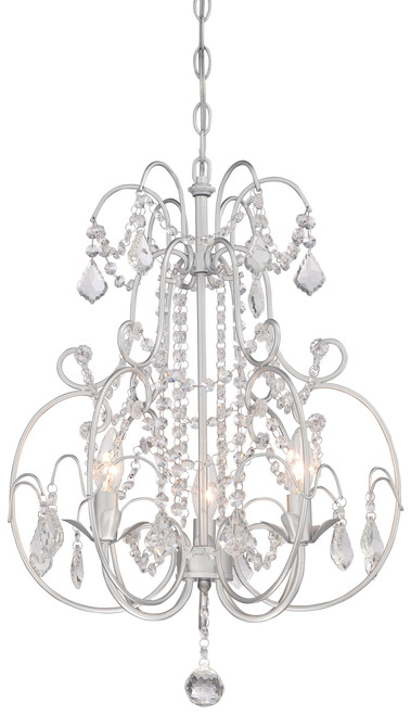 Minka Lavery 3 Light Mini Chandelier in Vintage Silver Finish