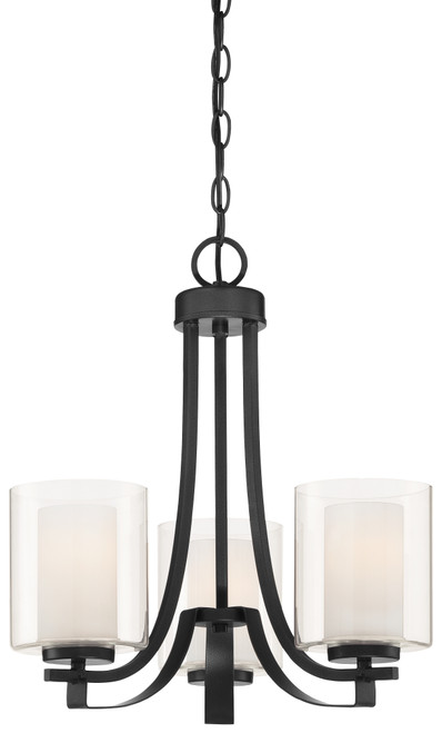 Minka Lavery 3 Light Chandelier in Sand Coal Finish