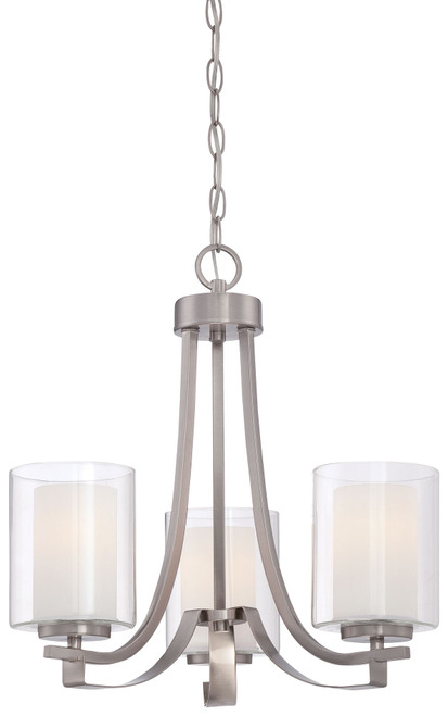 Minka Lavery Parsons Studio 3 Light Mini Chandelier in Brushed Nickel Finish