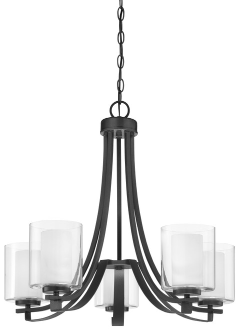 Minka Lavery 5 Light Chandelier in Sand Coal Finish