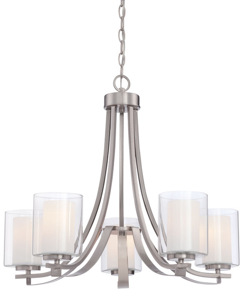 Minka Lavery Parson Studio 5 Light Chandelier in Brushed Nickel Finish
