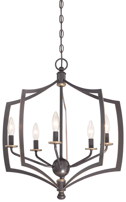 Minka Lavery Middletown 5 Light Chandelier in Downton Bronze With Gold Highlights Finish