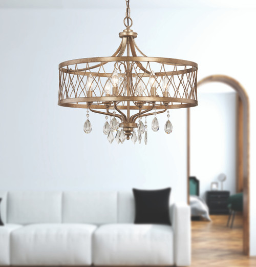 Minka Lavery West Liberty 6 Light Chandelier in Olympus Gold Finish