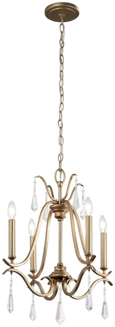 Minka Lavery Laurel Estate 4 Light Mini Chandelier in Brio Gold Finish