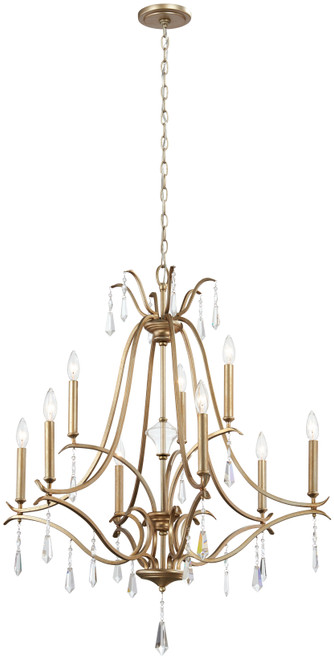 Minka Lavery Laurel Estate 9 Light Chandelier in Brio Gold Finish