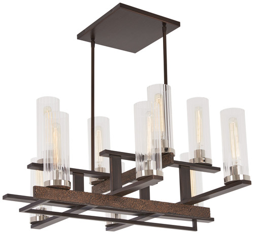 Minka Lavery Maddox Roe 10 Light Chandelier in Iron Ore With Gold Dust Highlights Finish