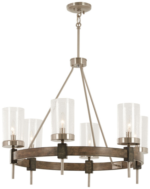 Minka Lavery Bridlewood 6 Light Chandelier in Stone Grey With Brushed Nickel Finish