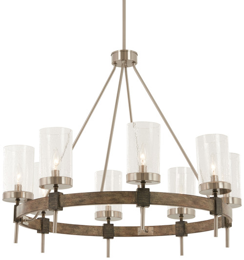 Minka Lavery Bridlewood 8 Light Chandelier in Stone Grey With Brushed Nickel Finish