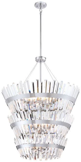 Minka Lavery Echo Radiance 24 Light 3 Tier Chandelier in Chrome Finish