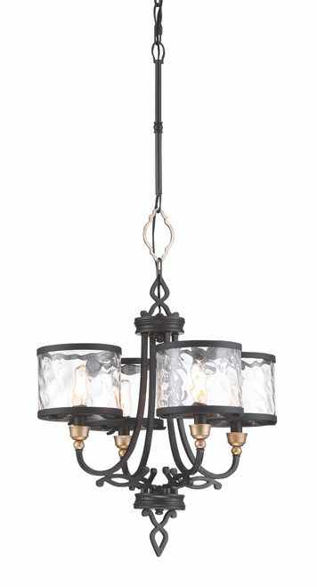 Minka Lavery Wyndmere 4 Light Chandelier in Sand Coal With Gold Highlights Finish